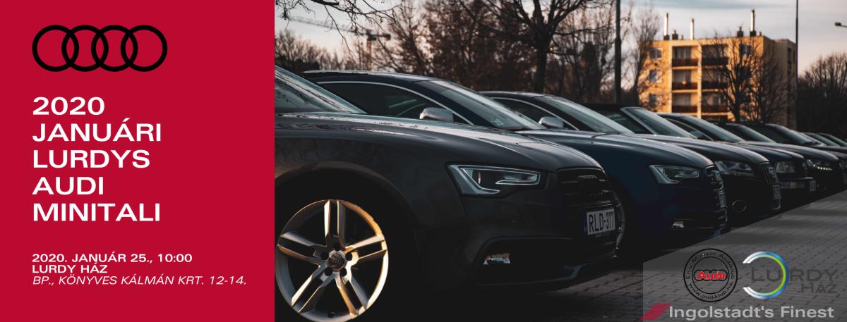 2020 januári Lurdys Audi Minitali