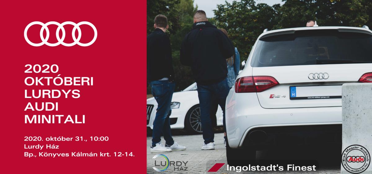 2020 októberi Lurdys Audi Minitali
